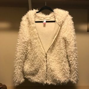 Jackets & Blazers - Cream Faux Fur Teddy Bear Jacket